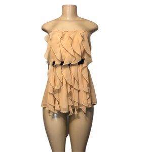 Alythea fringe strapless poly top.